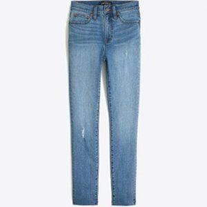 NWT J. Crew high-rise skinny jean with cut-off hem